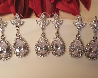 Bridesmaid Tear Drop Earrings Set / Bridesmaid Gifts