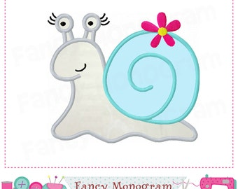 Snail girl applique,Snail,Snail design,Snail embroidery,Girl applique,Easter applique,Snail,Bug,Spring applique,Spring design.-01