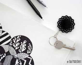 Key chain - Geometrical Star Silhouette
