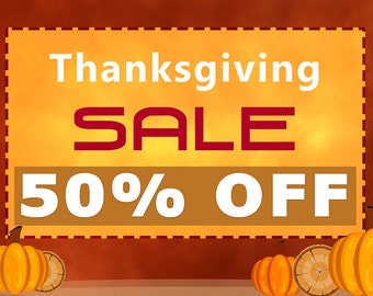Thanks Giving Day Sale Banner 3 x 2 Ft
