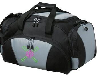 Crossed Bats Gym Bag - Personalized - Monogrammed - Embroidered - Sports Bag - Sports Gift - Baseball/Softball Duffle Bag - BG91