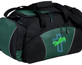Cross Gym Bag - Personalized - Monogrammed - Embroidered - Sports Bag - Sports Gift - Cross Duffle Bag - BG91