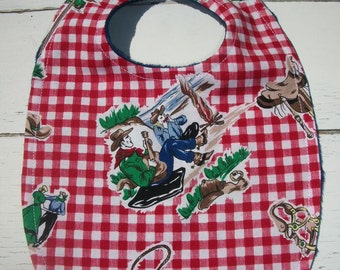 Cowboy Western Baby Bib Ready To Ship