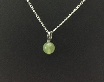 Tiny Olivine Peridot Necklace