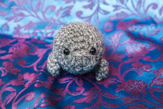 Crochet Amigurumi Manatee : Baby Manatee Crochet Amigurumi Sea Cow Plushie by ...