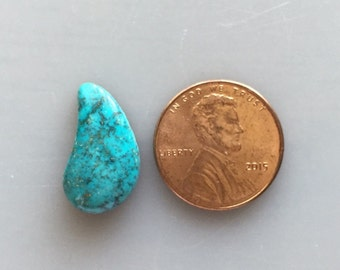 LM62 Rare Gem Grade Lone Mountain Natural Turquoise Cabochon 7.5 Carat Cab Stone Untreated Gemstone Gems Jewelry Findings