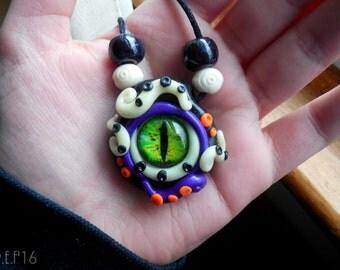 Glow In The Dark Eyeball Creature Necklace