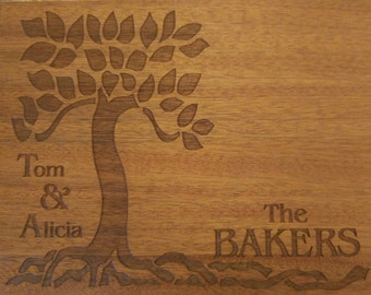 Family Cutting Board Arts and Crafts Style