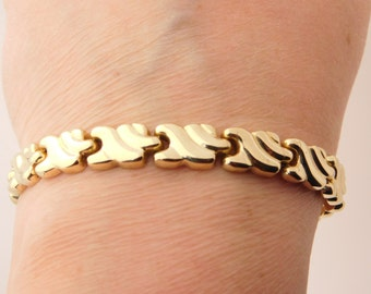 Ladies 14K Yellow Gold Bracelet 7.5 Inches