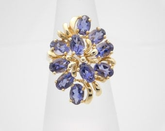 Oval Cut Purple Birthstone (FEBRUARY) Ring 14K Yellow Gold