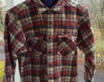Vintage Pendleton Original Board Shirt Kids XL 100% Virgin Wool