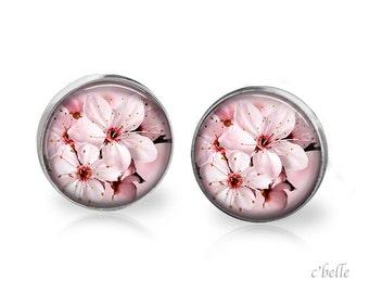 Earrings flowers - cherry blossom 24