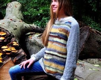 hand knitted, vintage style sweater