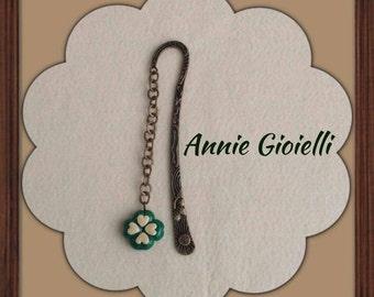 """Quadrifoglio"" Bookmark/mascot-""Bookmark"" charm/lucky cloverleaf"