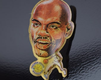 Latrell Sprewell Vintage Golden State Warriors NBA Enamel Pin Button Lapel Pinback
