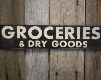 Grocery Sign, Kitchen Grocery Sign, Farmhouse Sign, Wooden Grocery Sign, Groceries Sign