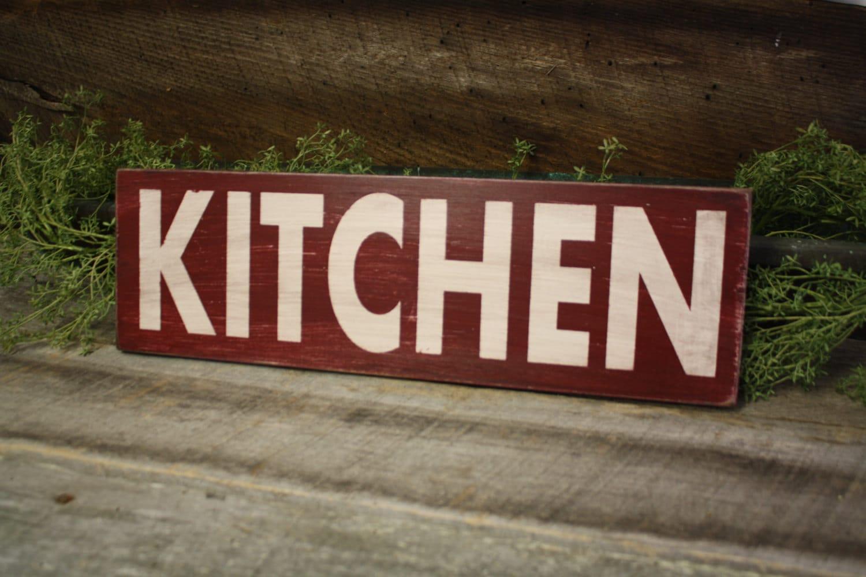 Kitchen Sign Fixer Upper Style Wooden Kitchen Sign Kitchen