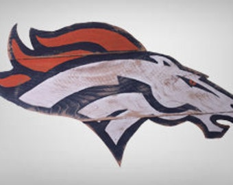 Reclaimed Wood Denver Broncos Logo