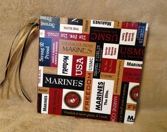 Marines/Military/Armed Forces 7x7 Scrapbook, Handmade Photo Album