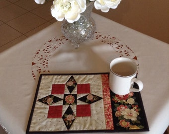 CONTRARY WIFE mug rug, snack mat, placemat, candle mat