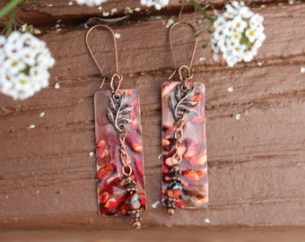 Fall Festival Copper Earrings