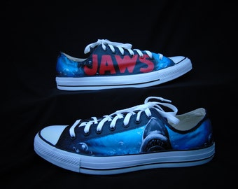 Jaws Hand Painted Converse