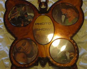 Vintage Butterfly Plastic Picture Frame