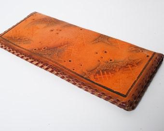 Vintage natural leather clutch bag, wallet, purse (CI947)