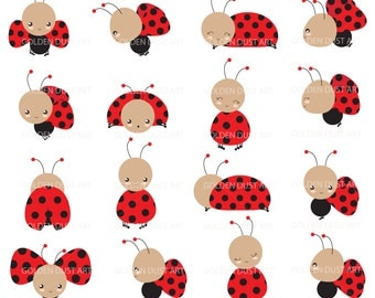 Red ladybug clipart – Etsy