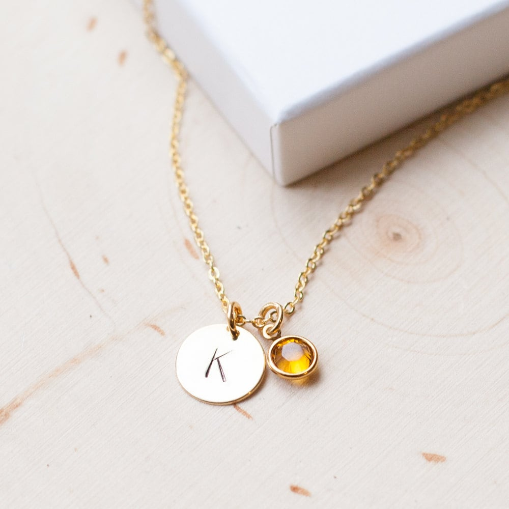 necklace gold birthstone personalized unbiological sister. Black Bedroom Furniture Sets. Home Design Ideas