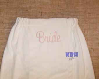Embroidered Bridal Robe / Spa Robe