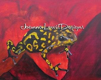 Red Frog - Signed Original Art