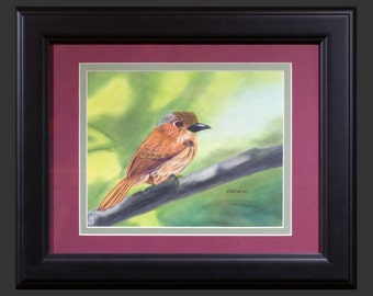 Little One - An original pastel painting by David Louis Kordecki. Framed and ready to hang.