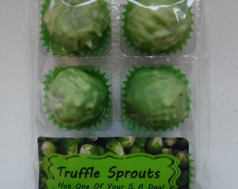 6 x Truffle Sprout Chocolates/Orange Flavoured Brussel Sprout Chocolates - Treat Pack