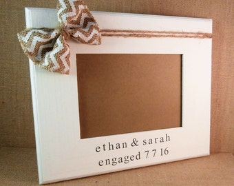Newly engaged gift Personalized Engagement gifts for couple frame 5 x 7, fiance gift for him her