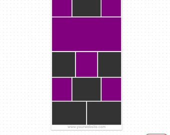 """10x20"""" Vol. 6 - Pinterest Photography Blog Board Storyboard Collage Template"""