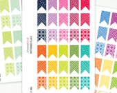Patterned Flags - Planner Stickers - Removable Matte Vinyl -