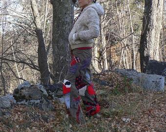 winter patchwork pants