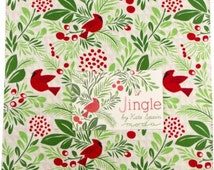 Jingle Layer Cake® Moda, SALE, Kate Spain, Precut Quilt Fabric, 42 ten inch squares color coordinated quilt fabric, 27210LC