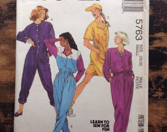 McCall's Sewing Pattern 5763 / UNCUT / Women's Jumpsuits / Size Small 10, 12