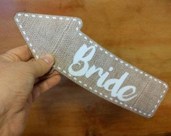 28cm Bride Photo Booth Arrow Sign Wedding Photo Booth Prop Wedding Sign 013-710