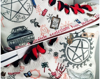 Supernatural Shoes -- LIMITED EDITION custom Chuck Taylor Converse sneakers. Handpainted & customizable.