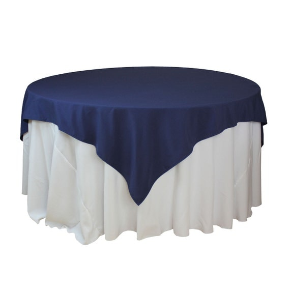navy blue table overlay 85 x 85 inches square navy blue