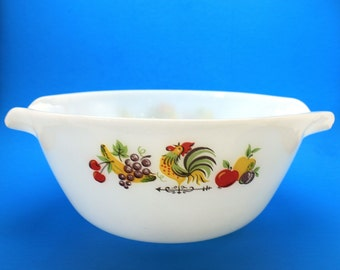 Fire King Chanticleer Mixing Bowl 10 Inches