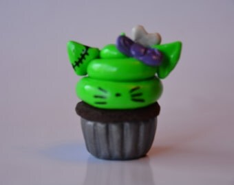 Zombie Hello Kitty Cupcake