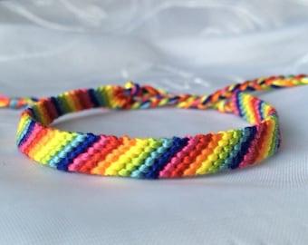 Rainbow Friendship Bracelet Embroidery Floss String
