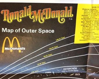 Vintage Ronald McDonald Moon Map