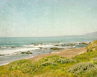 Coastal Decor, Beach Photography, California Coast, Ocean Art, Landscape, Summer, Fine Art Print, sea blue, Wall Art
