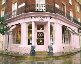 Pink Cake Shop, Kitchen Wall Art, Bakery, restaurant, London Photography, Kitchen Wall Art, Girls Room Decor, Fine Art Print, Pink Wall Art