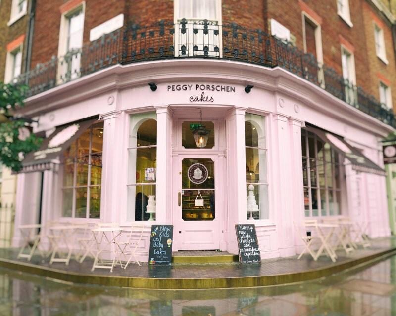 Pink cake shop kitchen wall art bakery restaurant london